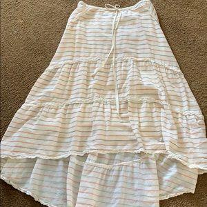 Max Studio hi-lo Skirt with drawstring at waist.